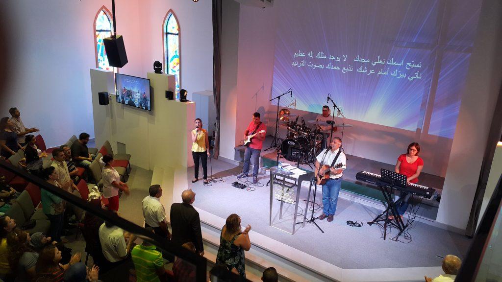 Worship service, Resurrection Church Beirut